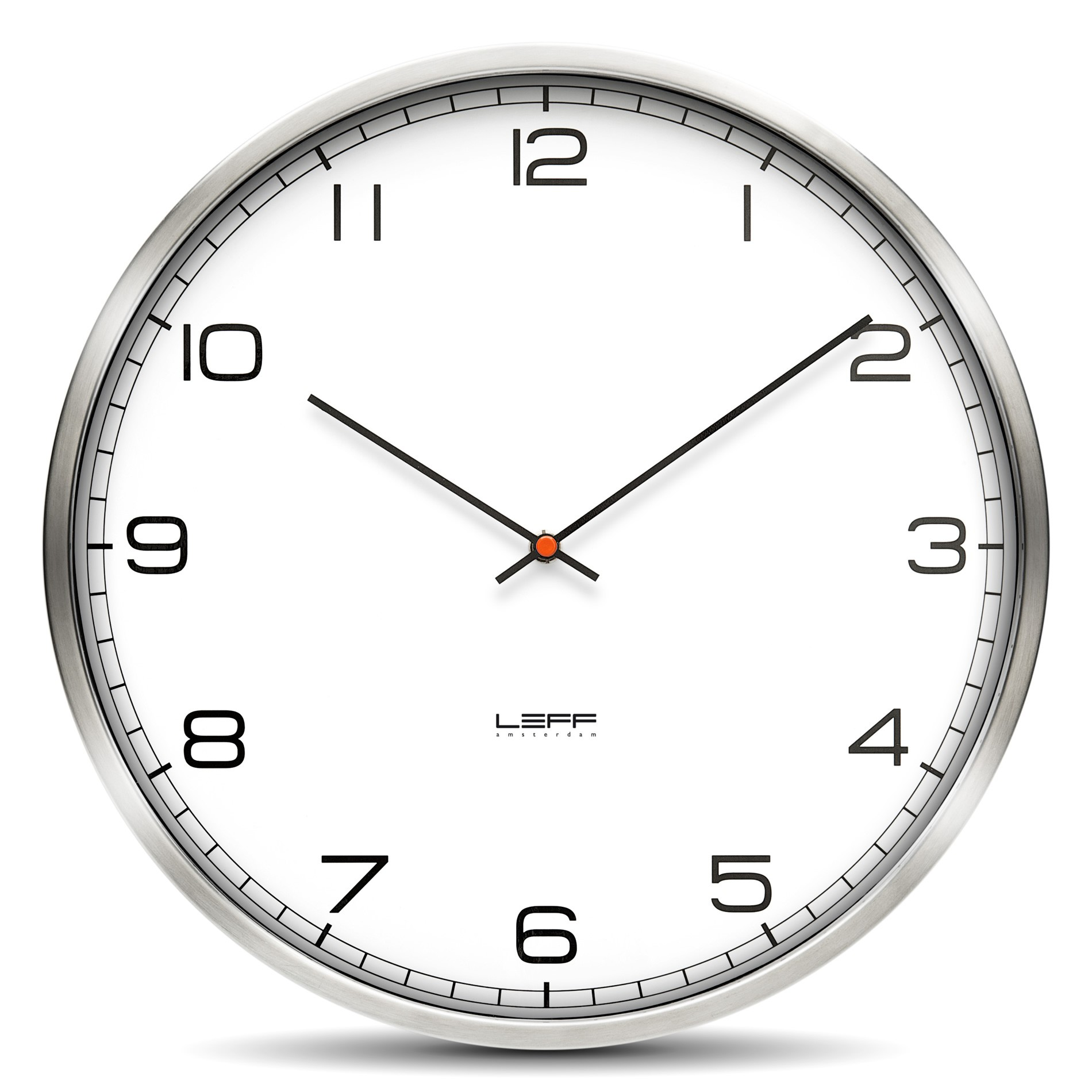 Fervency britains designer department store free uk delivery wall clock one 25 stainless for Designer kitchen wall clocks