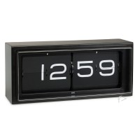 Black Flip Clock Leff UK