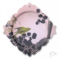 Pink Wall Plate Bird