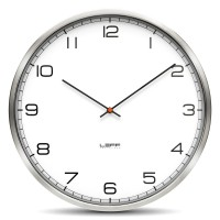 Wall Clock One 25 Stainless Steel White Arabic by LEFF Amsterdam
