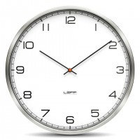 Wall Clock One 45 Stainless Steel White Arabic by LEFF Amsterdam