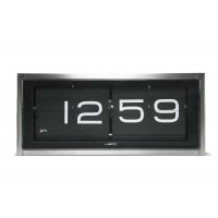 Brick Stainless Steel Flip Clock 12 Hour Black