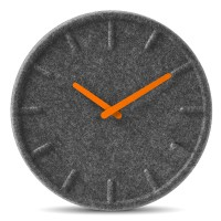Felt Clock with Orange Hands by LEFF