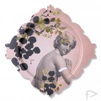 iBride - Galerie De Portraits Rectangular Tray - Buste Pink