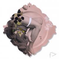 iBride - Galerie De Portraits Rectangular Tray - Piedestal Pink