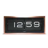 Brick Copper Flip Clock by LEFF Amsterdam