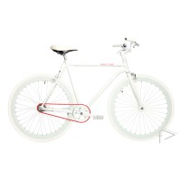 Martone Cycling Mens REAL WHITE Bike 56cm/52cm