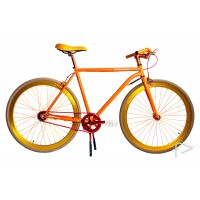 Martone Cycling Mens SAINT GERMAIN Orange Bike 56cm/52cm