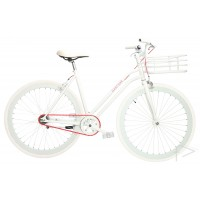 Martone Cycling Womens REAL White Bike 44cm