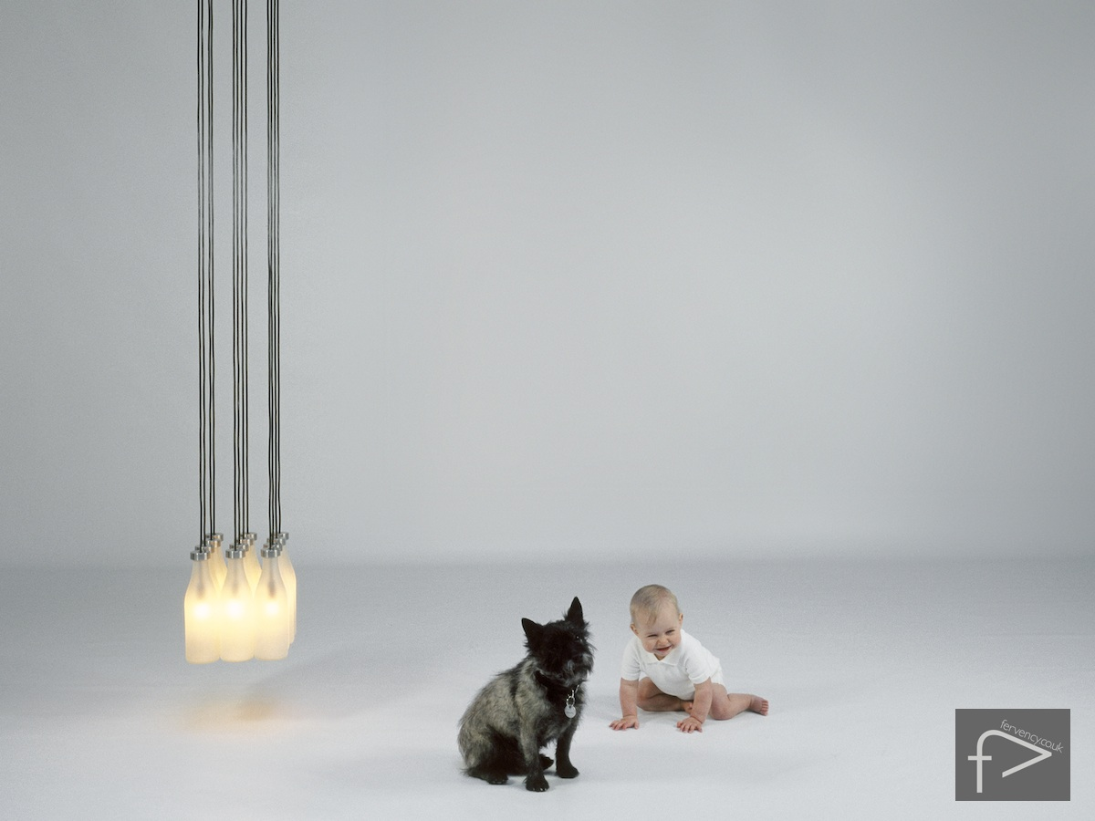 Droog Milk Bottle Light