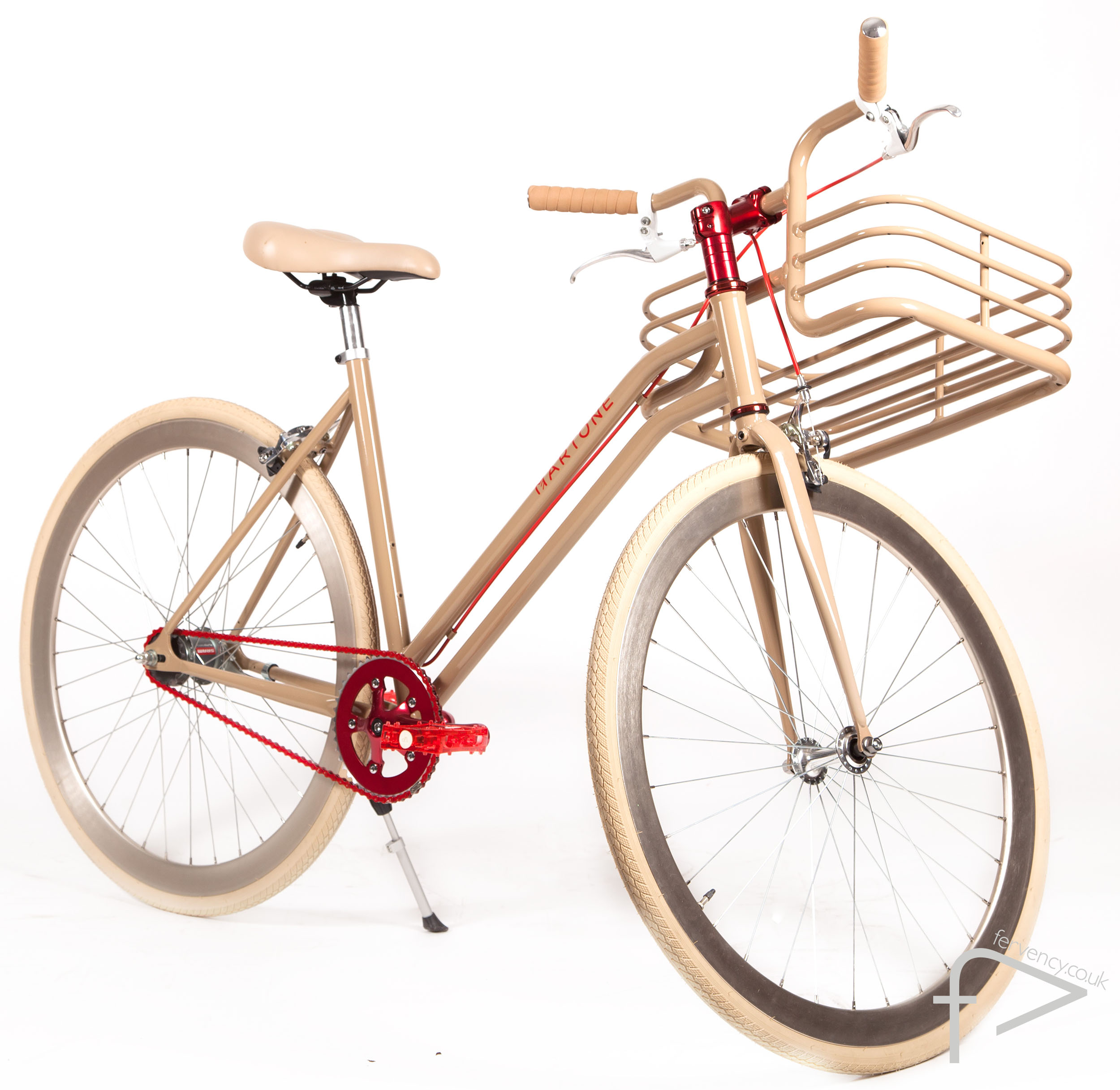 Sweetzer Beige Womens Bike with Basket