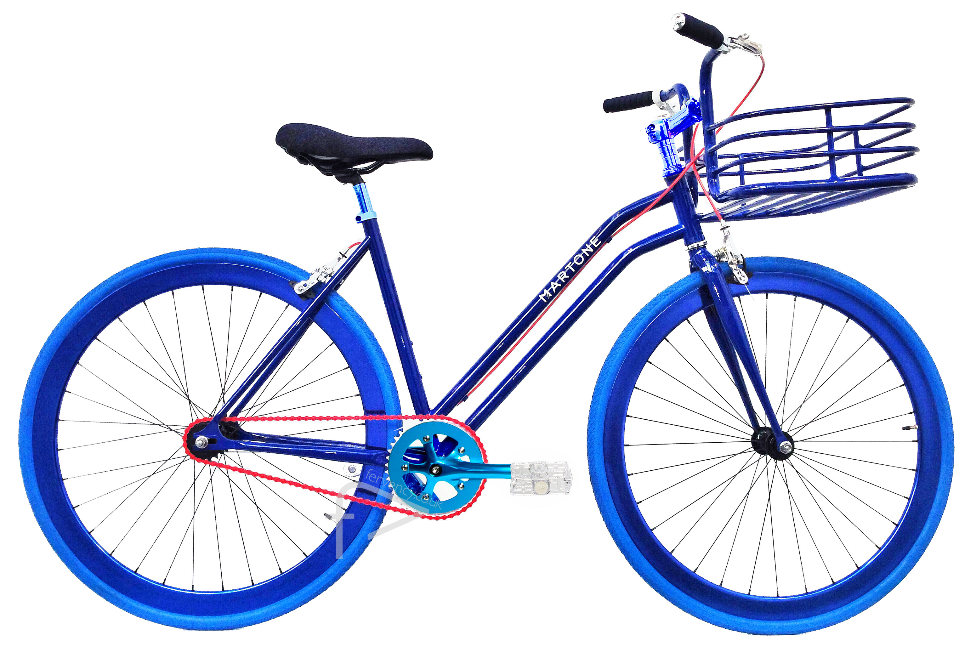 Chelsea Blue Womens Bike with Basket