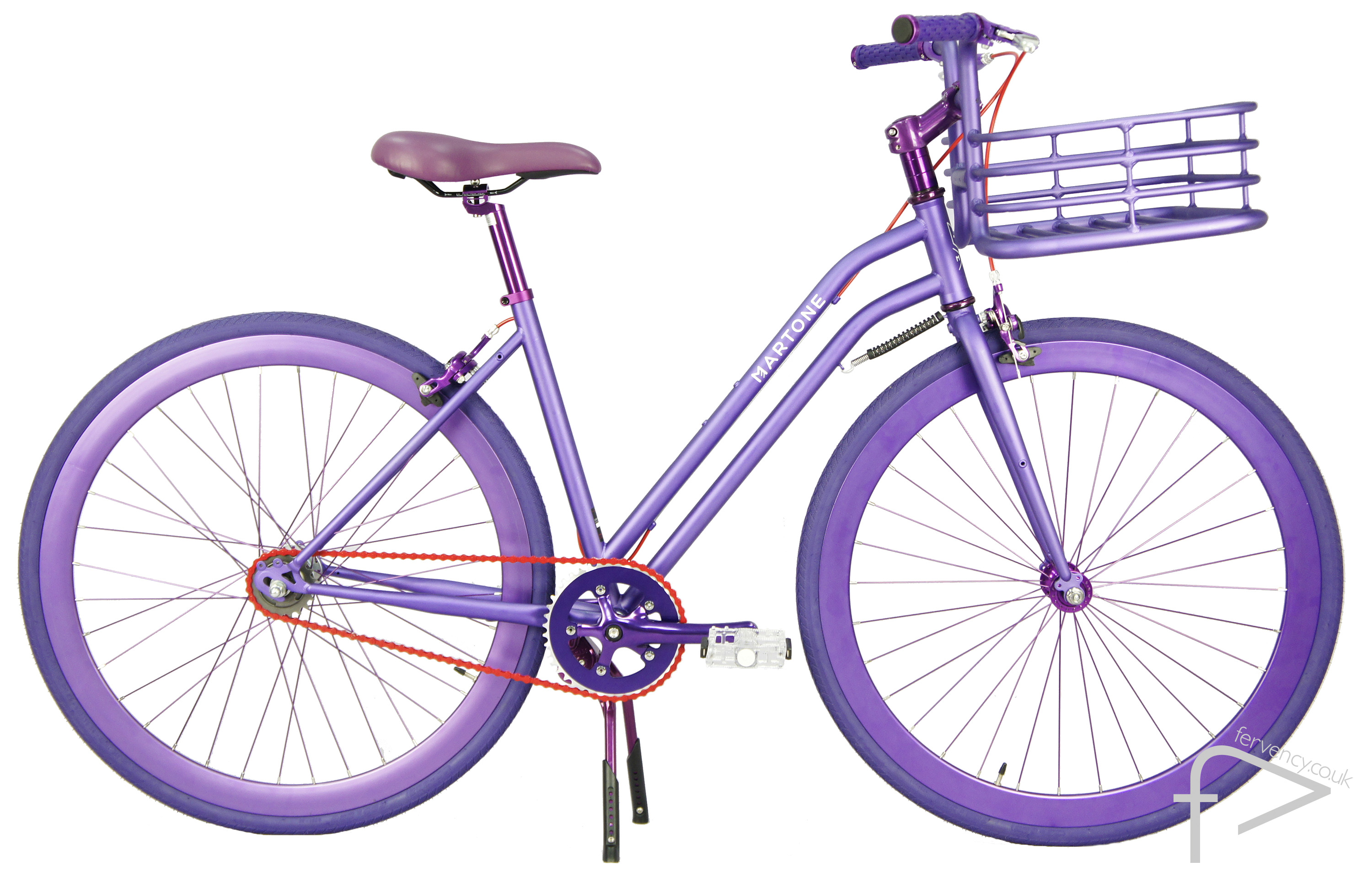 La Jolla Purple Womens Bike with Basket