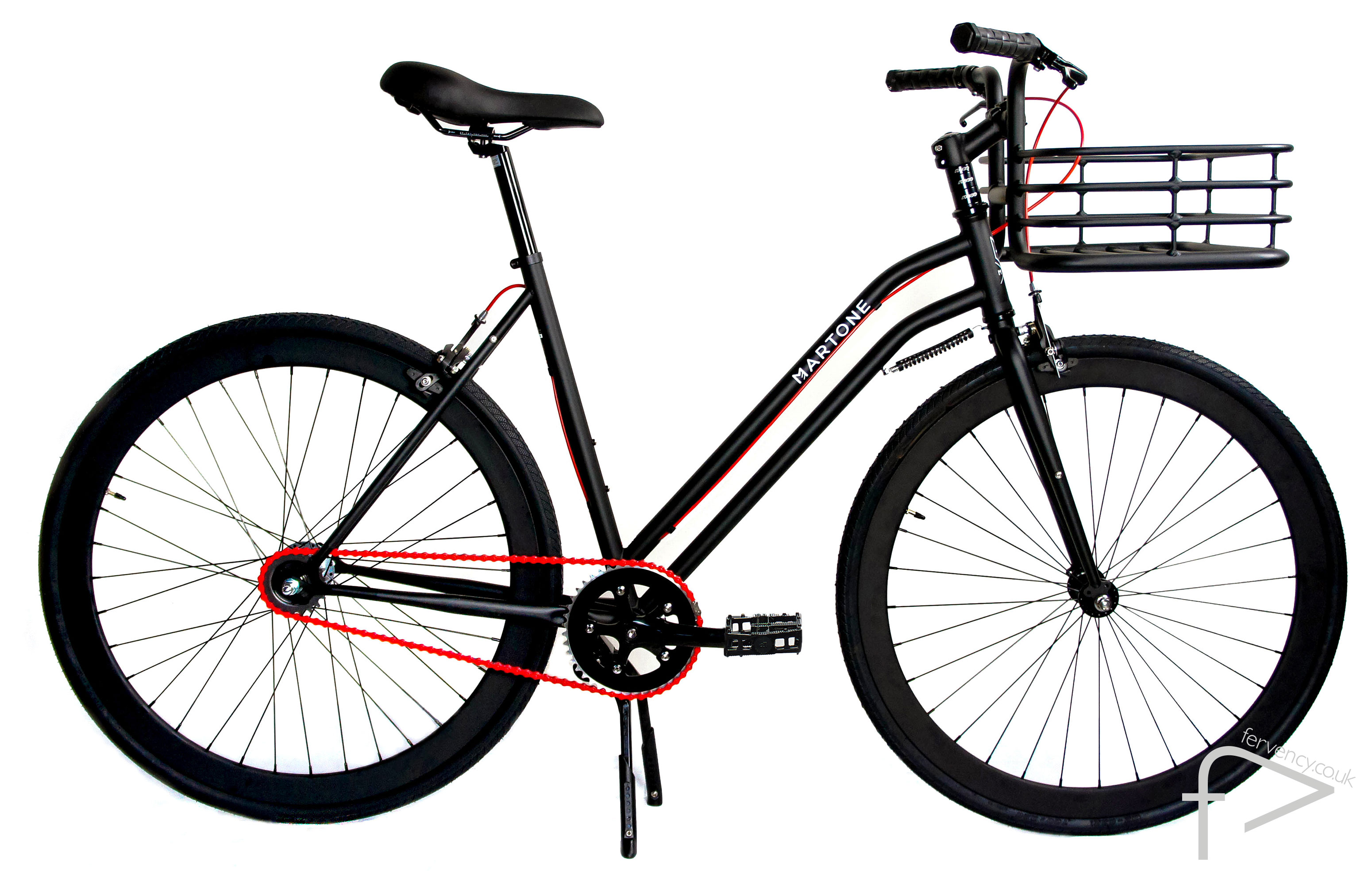 Mercer Black Womens Bike with Basket